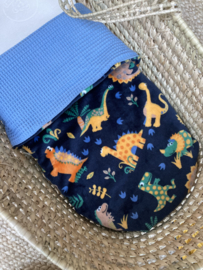 Babybettdecke Fleece Dino Blau