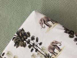 Housse de matelas à langer éléphant et jungle