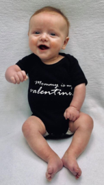 "Romper ""Mommy is my Valentine"""