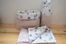 Babykamerset Zacht Roze Cactus