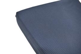 Aankleedkussenhoes Jersey Wafel Donkerblauw