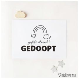 Ansichtkaart Gedoopt