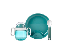 Mepal 3-delig servies turquoise