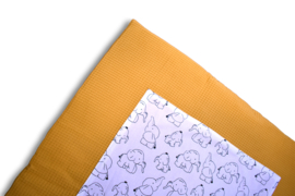 Playpen Mat Ochre Elephants