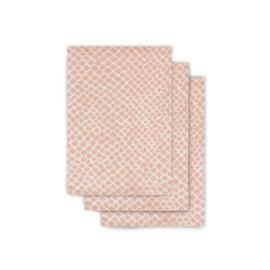 Jollein Hydrofiel washandjes Snake Pale Pink (3-pack)