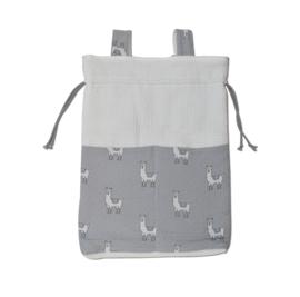 Playpen Storage Bag Creme Grey Lama