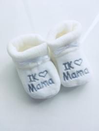 Slofjes I love Mama