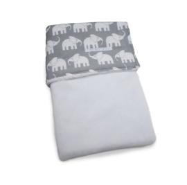 Wiegendecke Fleece Elefante