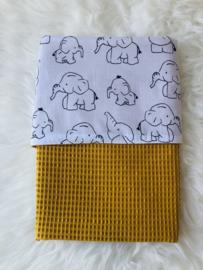 Wiegendecke Ocker Elefant