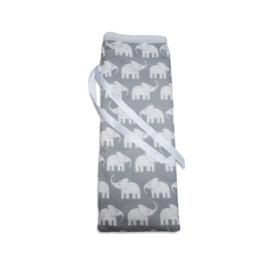 Handgemaakte kruikenzak Olifantjes
