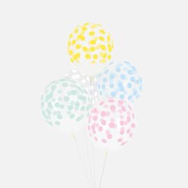 Confetti ballonnen pastel mix