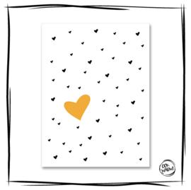 Poster Herz Gelb