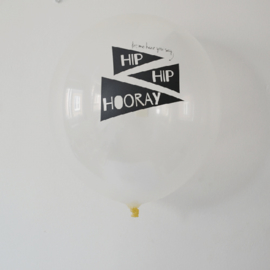 Hip hip hooray ballon