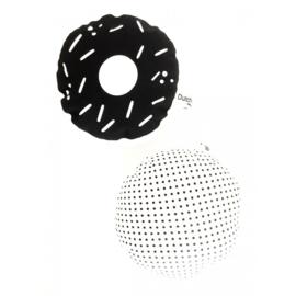 Rassel Donut Schwarz