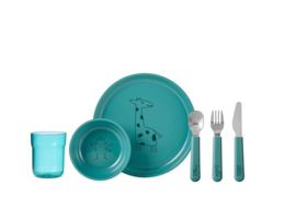 Mepal 6-delig servies turquoise