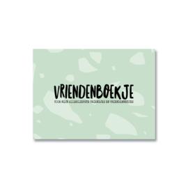 Vriendenboekje  Grijs/groen