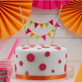 Neon Birthday Cake Topper