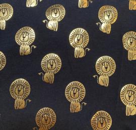 Aankleedkussenhoes Navy Leeuwtjes