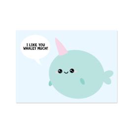 Kaart I like you whaley much