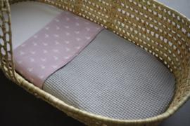 Crib Blanket Grey Flamingo