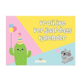 Vrolijke verjaardagskalender