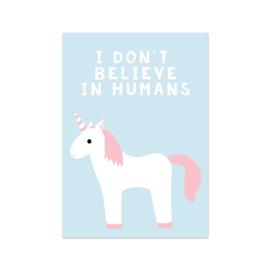 Kaart I don't believe in humans