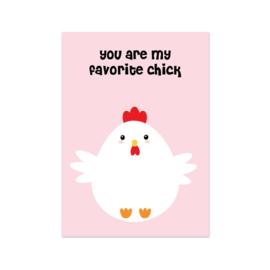 Kaart Favorite Chick