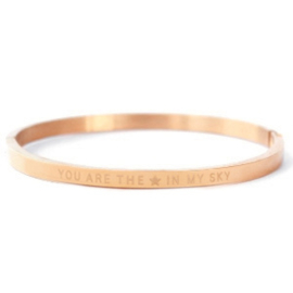 "RVS Armband Rosé Goud ""You are the star in my sky"""