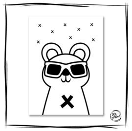 Poster Buddy Weiß