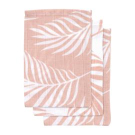Jollein Hydrofiel washandjes Nature Pale Pink (3-pack)