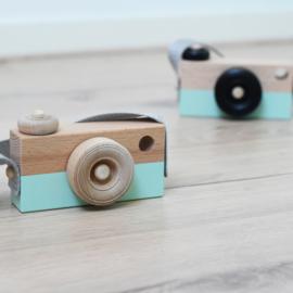 Houten camera mint