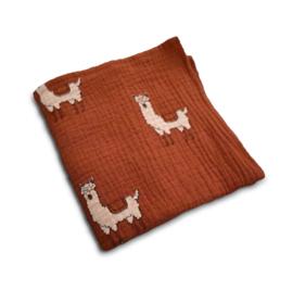 Hydrofiele doek Terracotta Lama