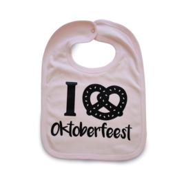 Slabbetje I Love Oktoberfeest Roze