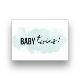 Wenskaart Baby Twins
