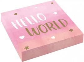 Servetten Hello World
