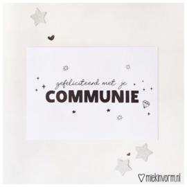 Ansichtkaart Communie