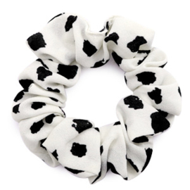 Scrunchie Dots White