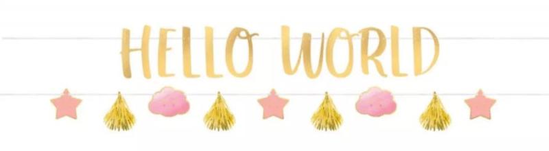 Papieren Banner Hello World