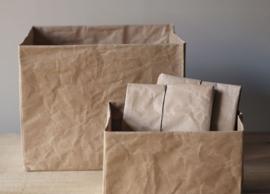 Paperbox wide, bruin, maat S
