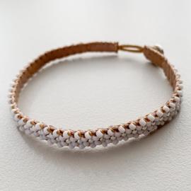 Armband Lace in wit-zilver van Ibu Jewels