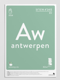 ansichtkaart, A6,  remember your travels van label of the elements