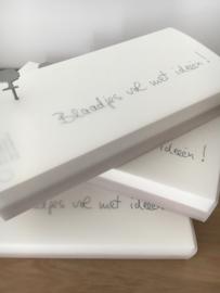 blaadjes vol ideeën, notitieblok van raumgestalt, 21 cm x 10 cm