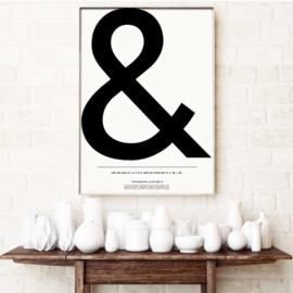 Poster '&' van Kortkartellet, 50 cm x 70 cm