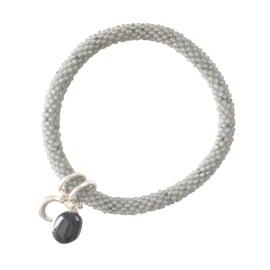 jacky multi color zwarte onyx zilver armband