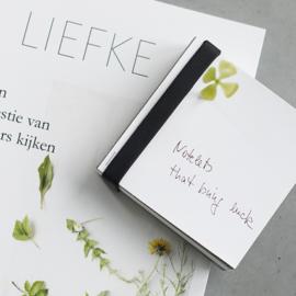 Notelets that bring luck van Raumgestalt, staalplaat met losse blaadjes en geluksmagneet