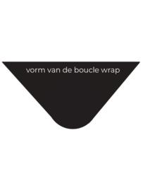 Big wrap bouclé van SjaalMania in kleur earth
