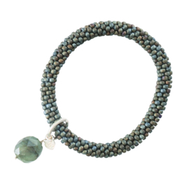 Classic labradorite green silver armband, A Beautiful Story