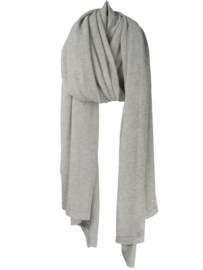 sjaal cosy cotton light van Sjaal Mania in kleur pearl grey