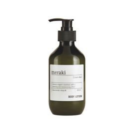 Bodylotion van Meraki in de geur linen dew, 300ml