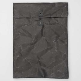 Paper string & button close envelop-hoes, kleur zwart